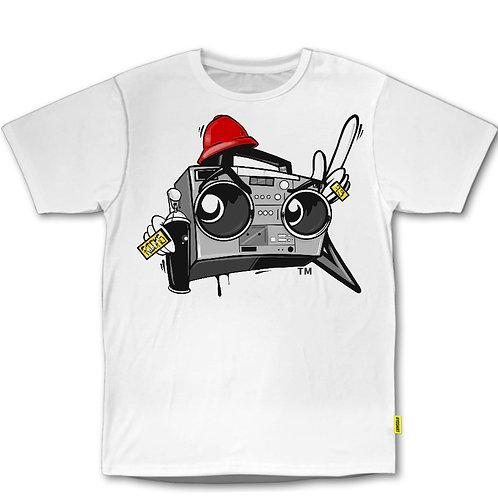 RICKS 73  Boombox Silver logo T-Shirt