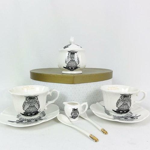 Tējas tasīšu komplekts ar pūci