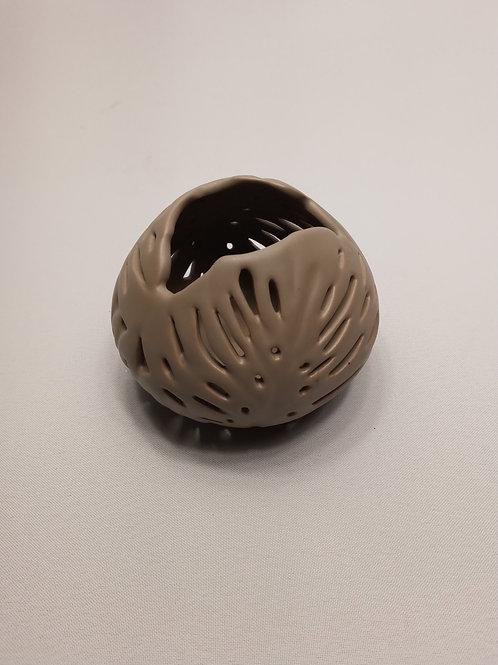 Svečturis keramikas pelēks