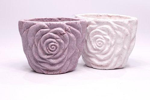 Puķu pods vecināts roze