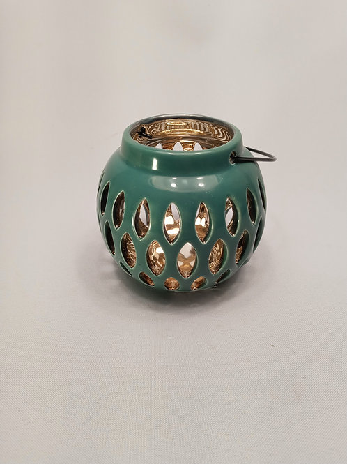 Svečturis keramikas zils