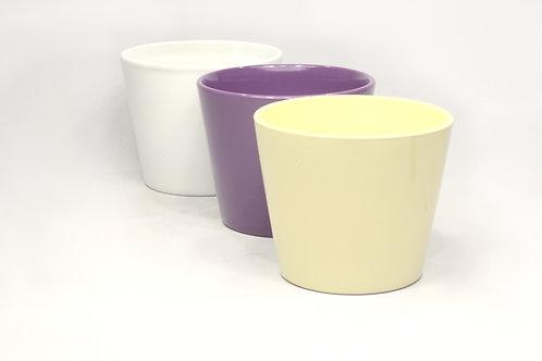 Puķu pods glazēts vienkāršs dažādu krāsu