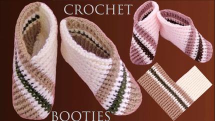 Zapatos a crochet tejidos con diseños e