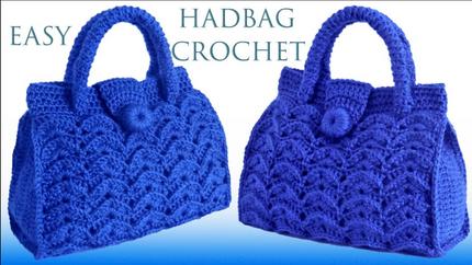 Bolso a Crochet Punto 3D en relieve teji