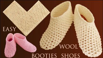 Cómo tejer Zapatos fácil tejido paso a