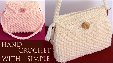 Bolso fácil a Crochet punto 3D copitos
