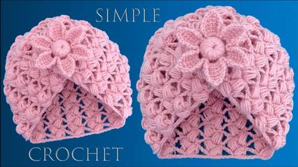 Gorro fácil a Crochet tejido con un rec