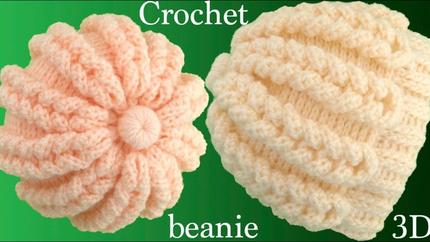 Gorro a Crochet punto trenzas mágicas 3