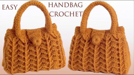 Bolso Fácil a Crochet Punto 3D Fantasí