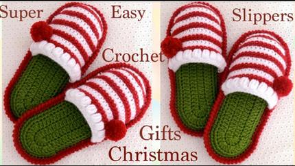 Pantuflas a crochet para bebes y tallas