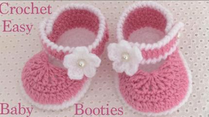 zapatos a Crochet para bebes tejido tall