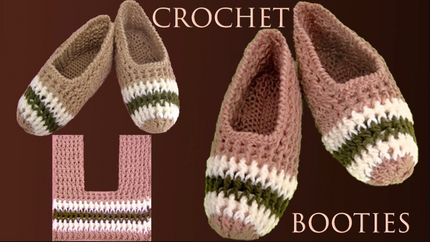 Zapatos a crochet tamaño adulto tejidos