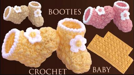 Zapatos para bebes fáciles tejidos a cr