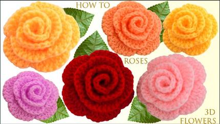 Como hacer flores rosas de colores 3D en
