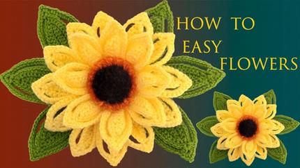 Como hacer Flores Fáciles Girasoles en
