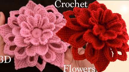 Como hacer flores en 3D a Crochet Irland