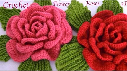Como hacer flores Rosas gigantes 3D con