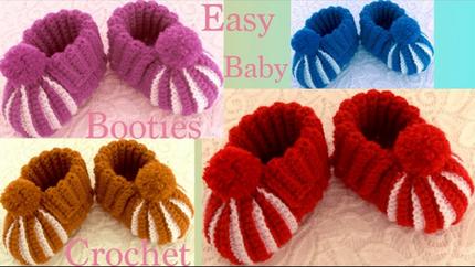 Zapatitos a Crochet para bebes niñas ni