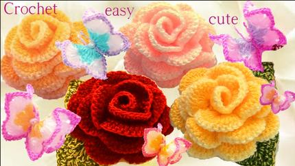 Aprende como tejer a Crochet Mariposas f