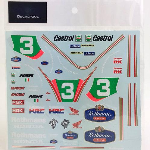 1/12 Honda NSR250 #3 Rothmans L. Cadalora '91