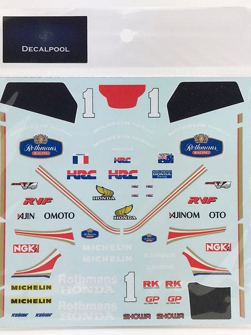 1/12 Honda RVF750 (RC30) Rothmans #1 W. Gardner '87 Suzuka 8 hrs Enduranc