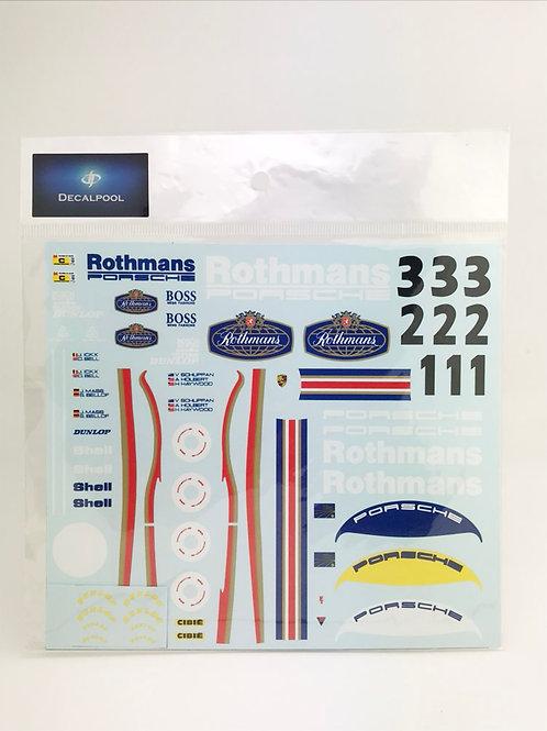 1/24 Porsche 956 Rothmans J. Ickx '83 LeMans