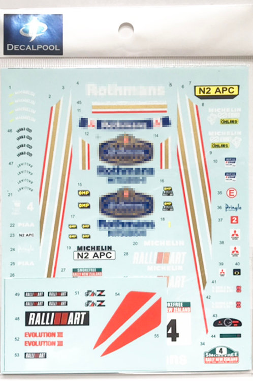 1/24 Mitsubishi Lancer Evolution III Rothmans #4 New Zealand Rally '96