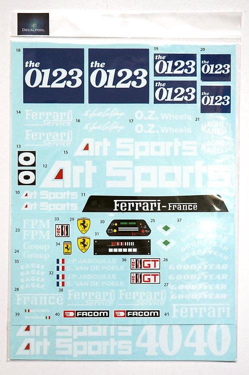 1/8 Ferrari F40 LM ARTSPORT 0123 LeMans '90 Decal for Centauria / Pocher