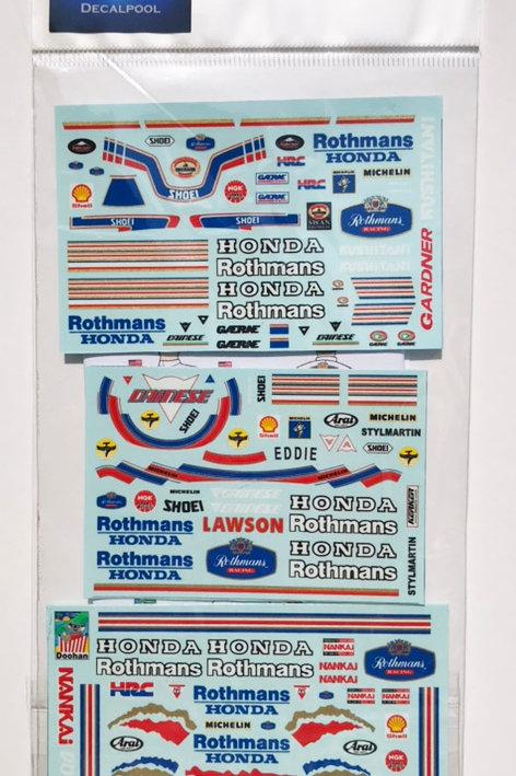1/12 Honda Rothmans '89 WGP E. Lawson / M. Doohan / W. Gardner Rider