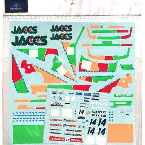 1/24 Honda CIVIC EF9 JACCS #14 Inter Tec Gr. A '90