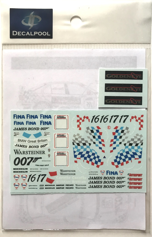 1/43 BMW 318i GOLDENEYES James Bond 007 #16/17 BTCC '95