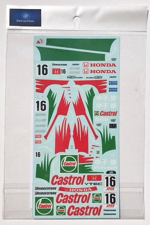 1/24 Honda Civic EG9 Mugen Castrol 中子修 #16 JTCC '95