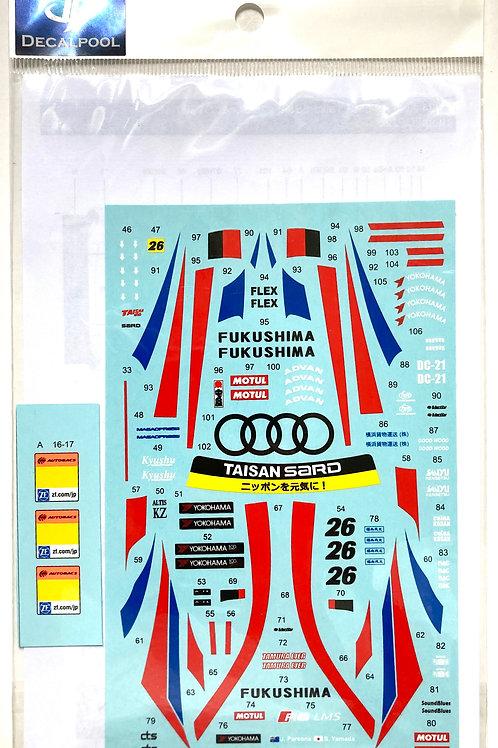 1/24 Audi R8 LMS Taisan Sard FUKUSHIMA #26 Super GT 300 '17