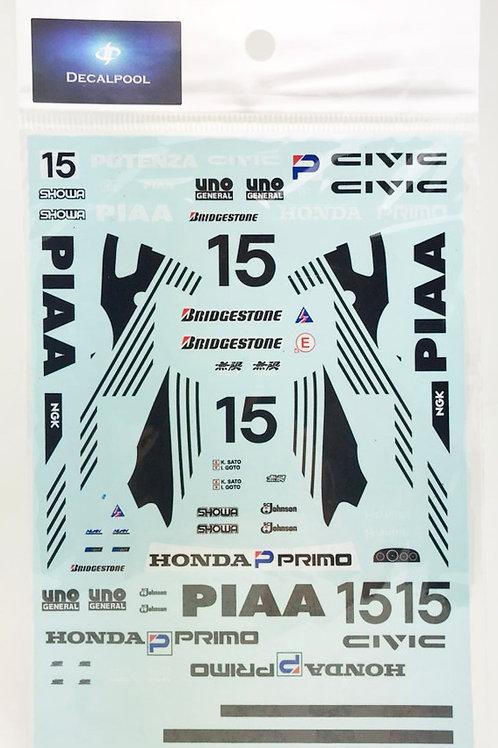 1/24 Honda CIVIC EF9 PIAA #15 Inter Tec Gr. A '91