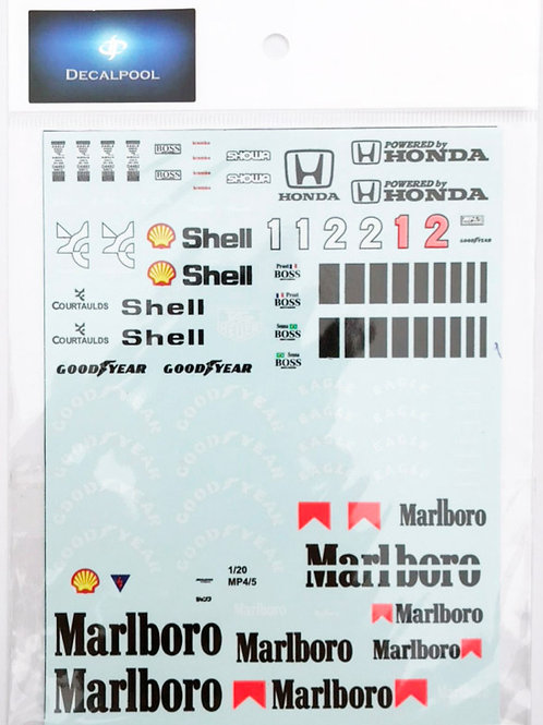 1/20 McLaren MP4/5 Marlboro '89 A. Senna Decal
