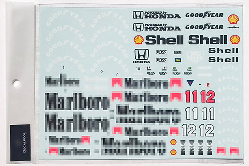 1/12 McLaren Honda MP4/4 Tobacco 88' A. Senna / A. Prost