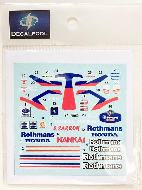 1/12 Honda NSR250 Rothmans Dominique Sarron Rider '91
