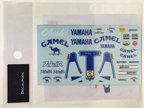 1/12 Yamaha YZR500 Camel WGP'89 K. Ohishi Rider