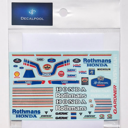 1/12 Honda Rothmans '89 WGP W. Gardner Rider