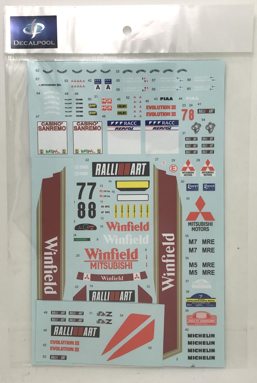 1/24 Mitsubishi Lancer Evolution III Winfield #7/8 Rally Sanremo '96
