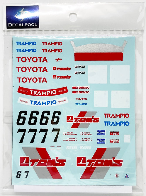 1/24 Toyota Levin AE92 TOM'S #6/7 Group A '90