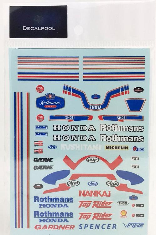 1/12 Honda Rothmans '86 WGP  W. Gardner / F. Spencer Rider