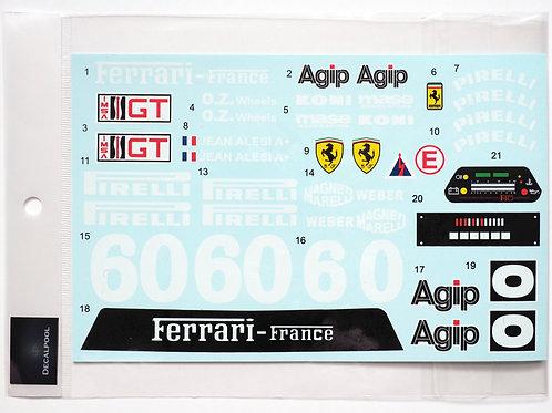 1/8 Ferrari F40 LM #60 IMSA '90 Decal for Centauria / Pocher F40 Competizione