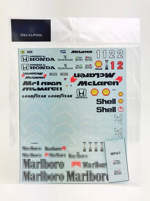 1/20 McLaren MP4/7 Marlboro '92 A. Senna