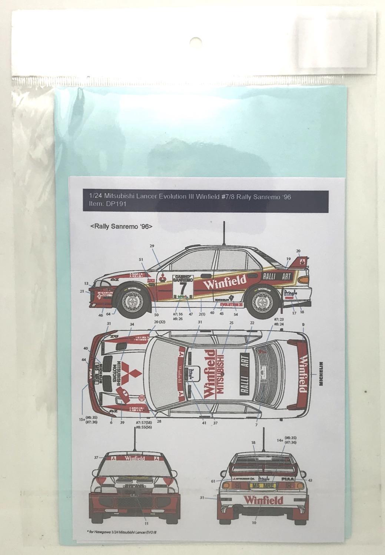 Thumbnail: 1/24 Mitsubishi Lancer Evolution III Winfield #7/8 Rally Sanremo '96