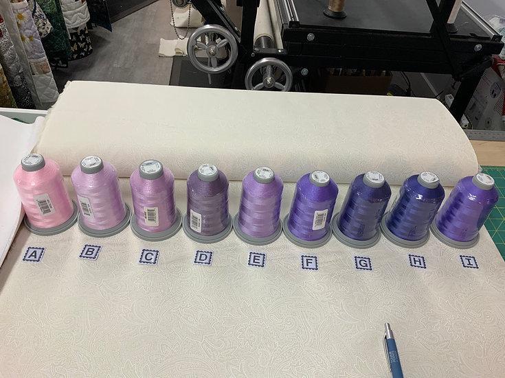 Purple Spools of Thread