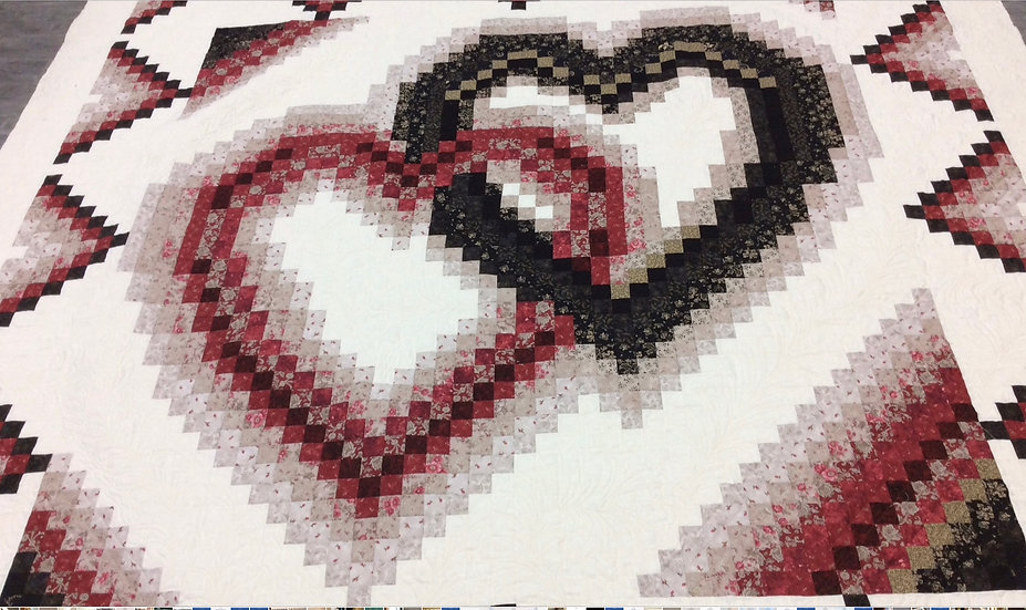 Linking Hearts by Moose on the Porch Quilts Kit
