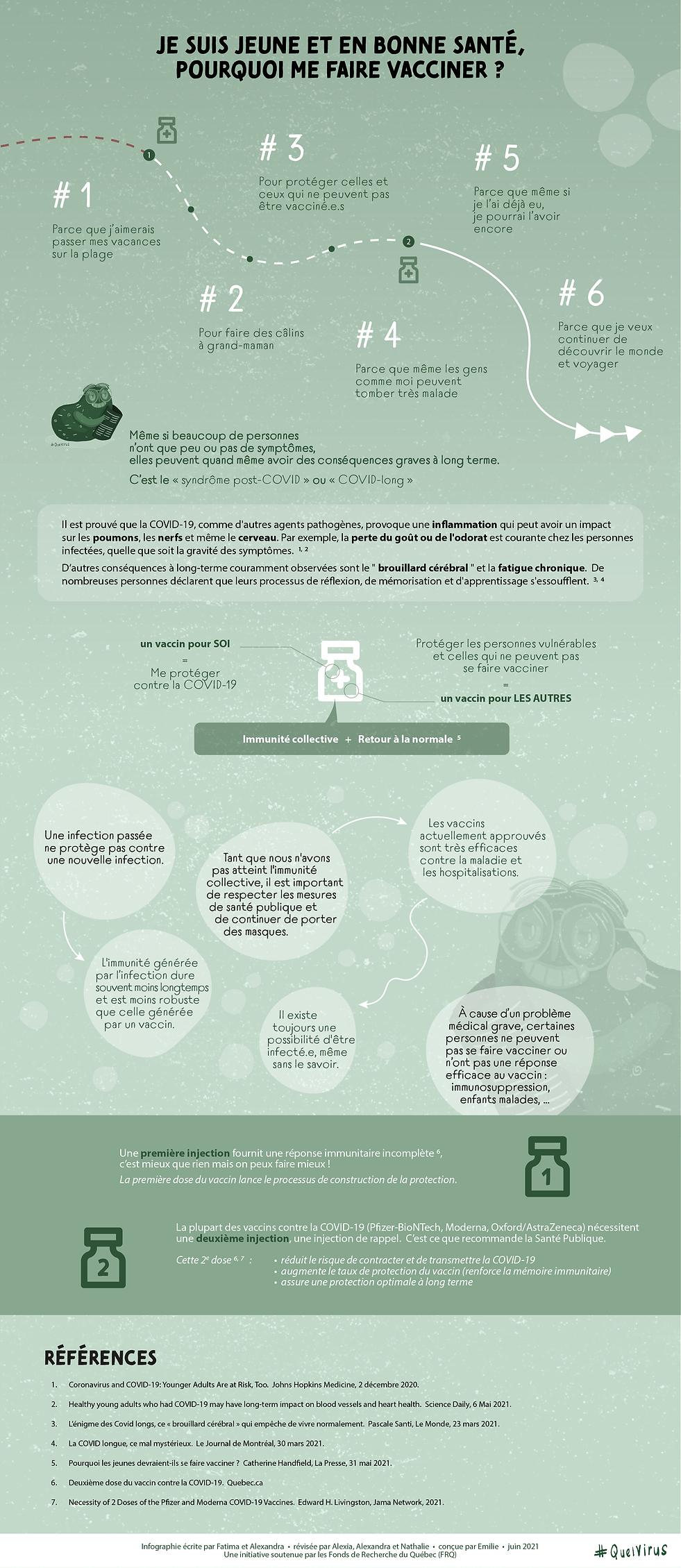 Fiche-info sur les raisons pour se faire vacciner contre la COVID-19