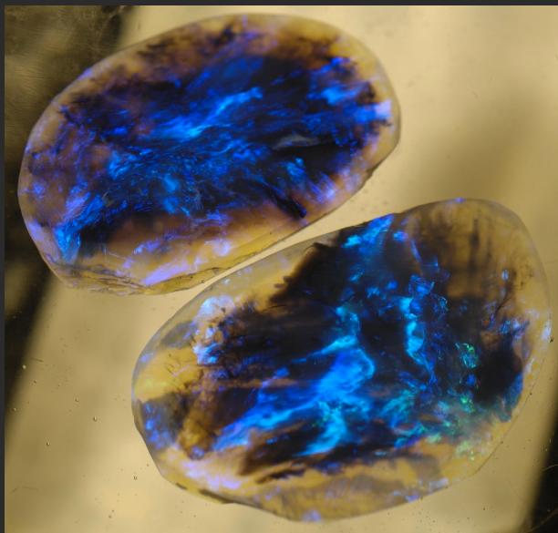 Unique Opal Fire Blue