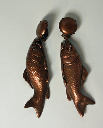 A Pair of Quirky 1930's Fish earrings
